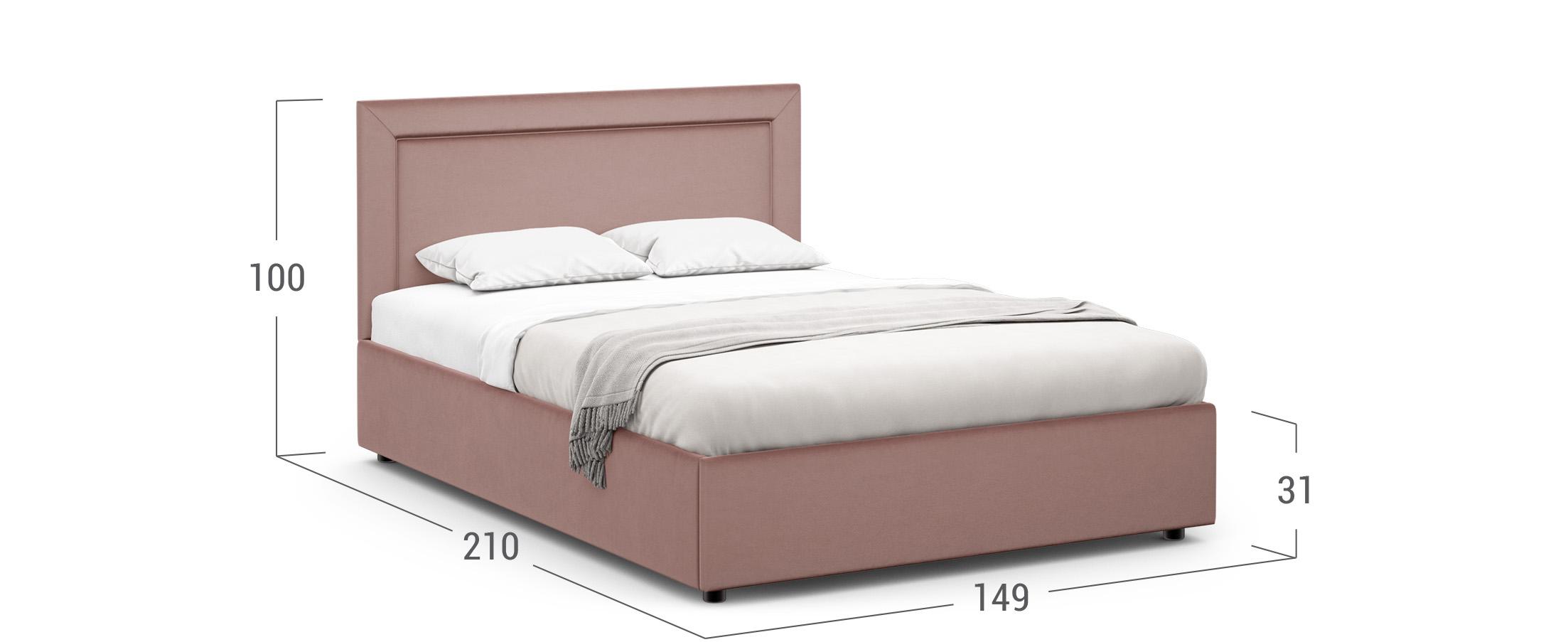 Кровать двуспальная MOON FAMILY 1228 140х200
